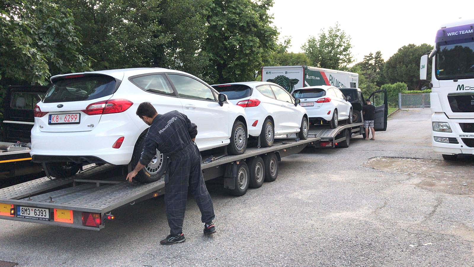 The new Ford Fiesta for CIR<br>Junior arrive at Motorsport<br>Italia