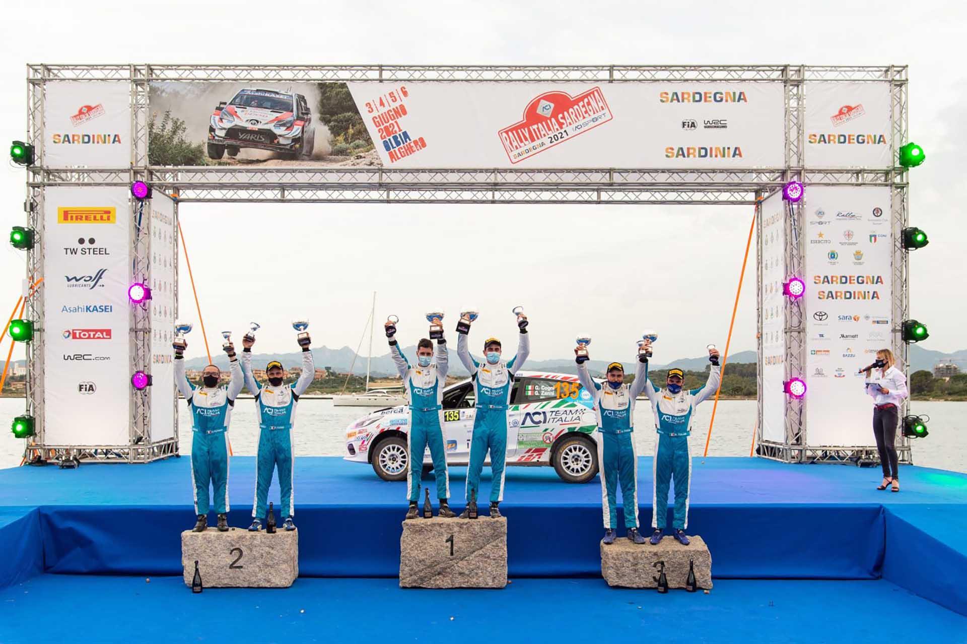 In Sardegna vittoria per Cogni-Zanni (Ford Fiesta Rally 4), tra gli 11 equipaggi di ACI Team Italia