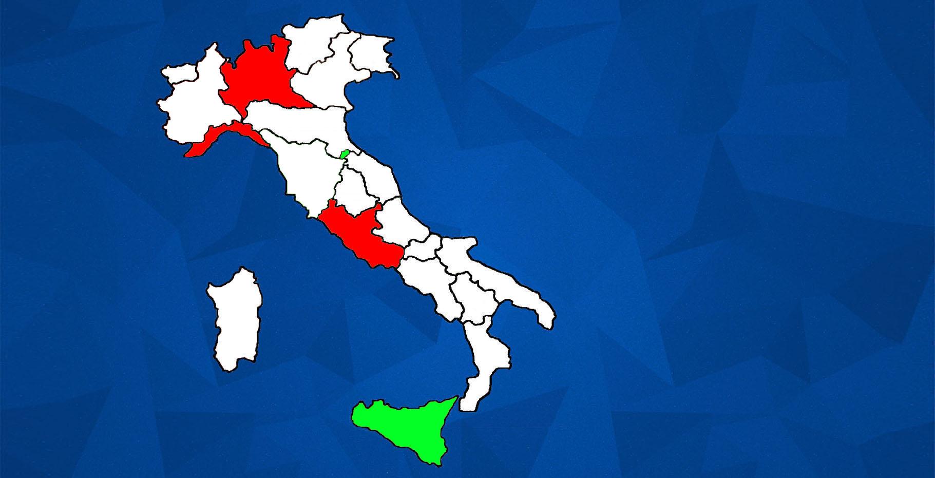CIR JUNIOR ITALY MAP