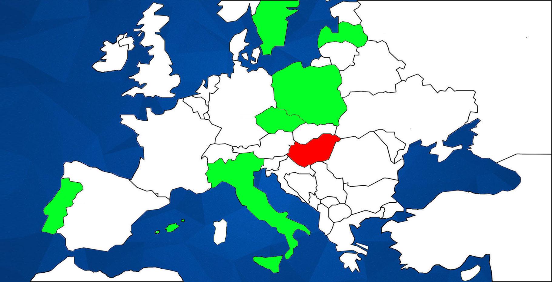 ERC EUROPEAN MAP