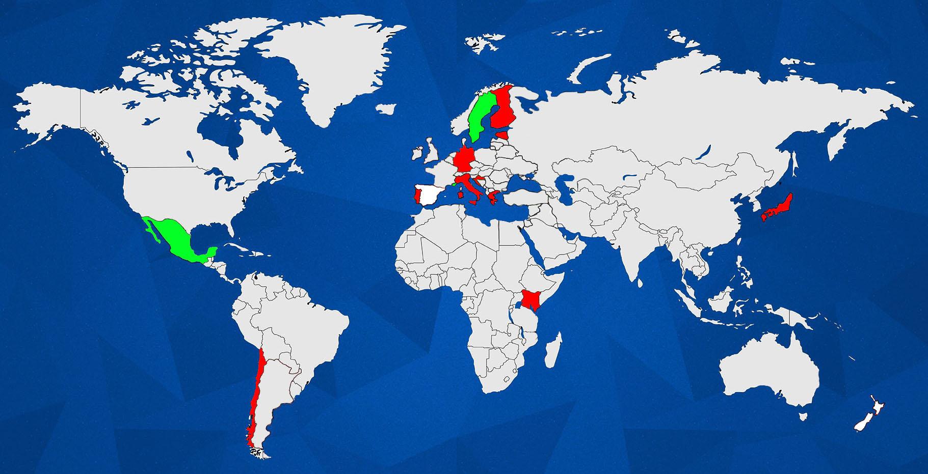WRC WORLD MAP